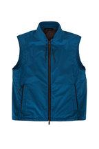 Ermenegildo Zegna - Stratos Teal Front Zip Vest