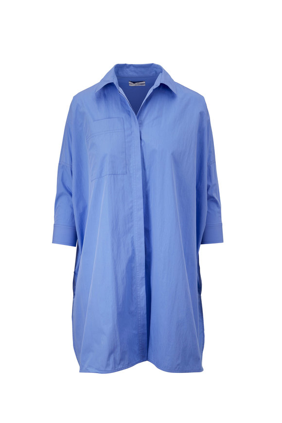 CO Collection Blue Button Down Tunic