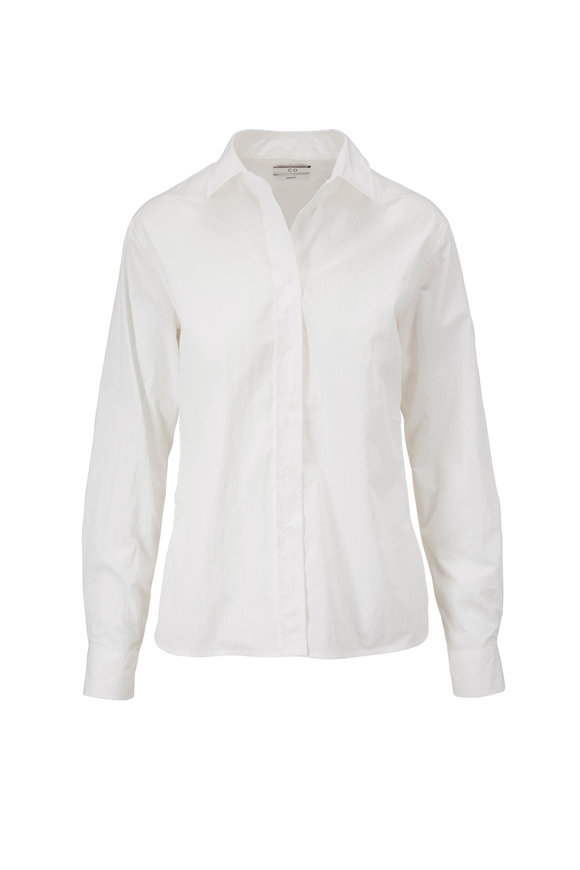 CO Collection White Slim Button Down Shirt