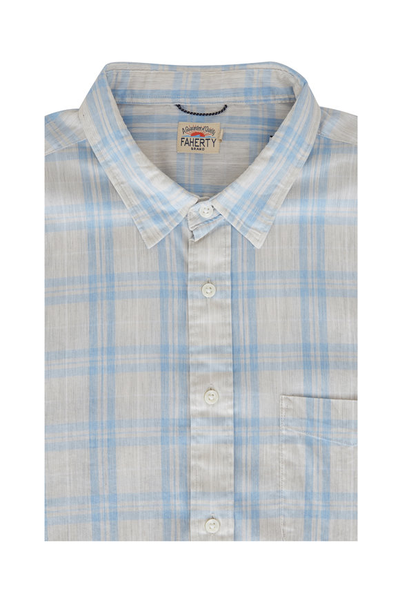 Faherty Brand Movement Sea Breeze Plaid Shirt