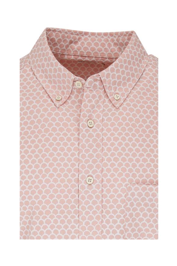 Faherty Brand Playa Rose Fish Scale Short Sleeve Shirt