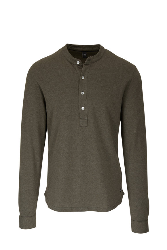 WAHTS Army Green Long Sleeve Henley