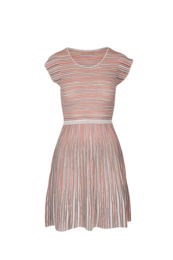 Emporio Armani Multicolor Stripe Tubular Knit Sleeveless Dress