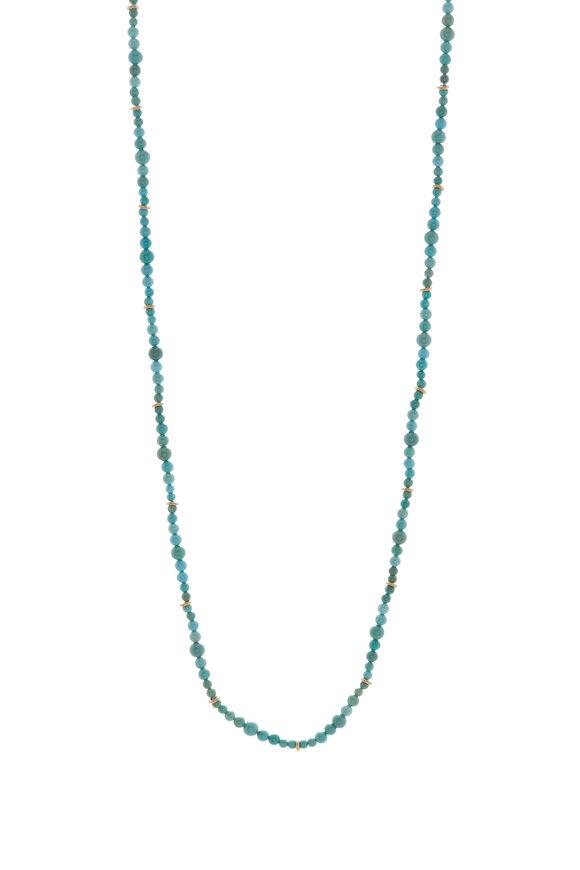 Caroline Ellen Turquoise Bead Necklace