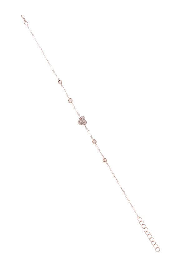 Kai Linz Rose Gold & Diamond Heart Bracelet