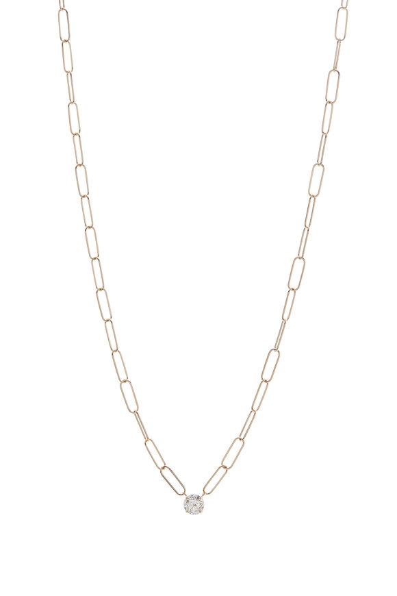 Kai Linz 18K Yellow Gold Single Set Diamond Necklace