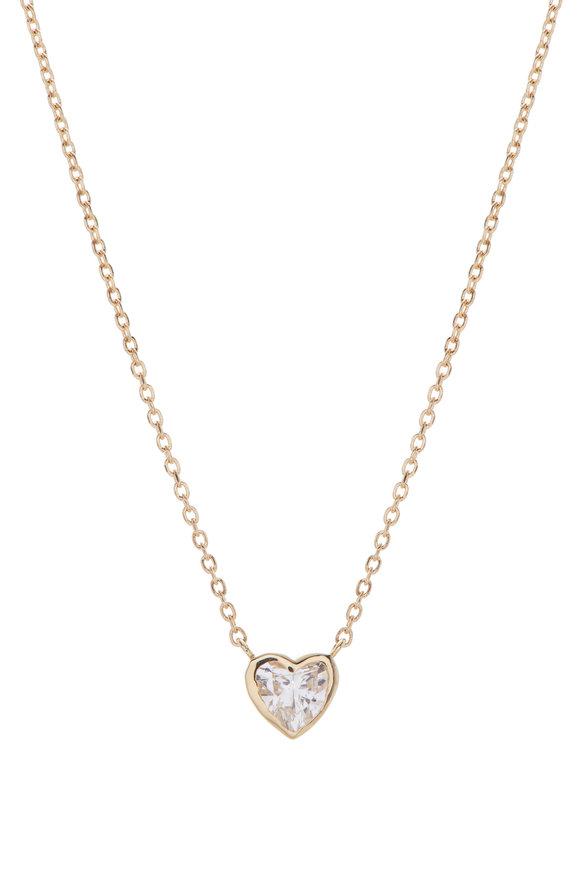 Kai Linz 18K Yellow Gold & Diamond Heart Necklace