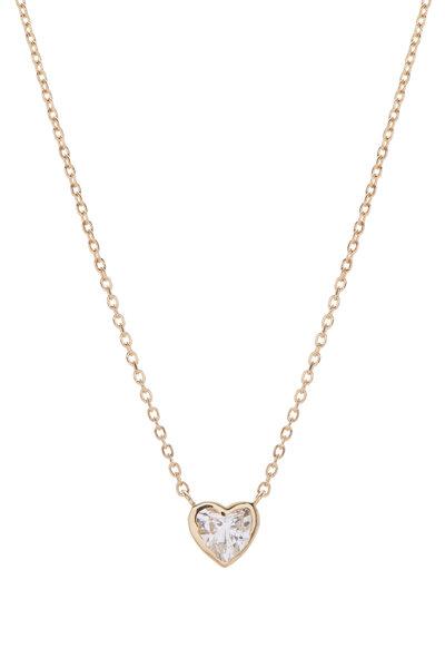 Kai Linz - 18K Yellow Gold & Diamond Heart Necklace