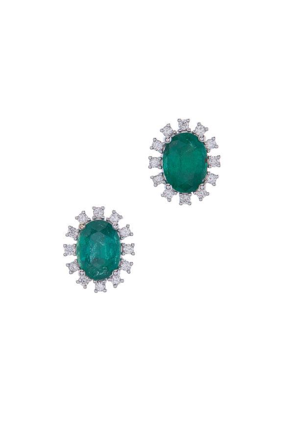 Kai Linz Emerald Post Earrings