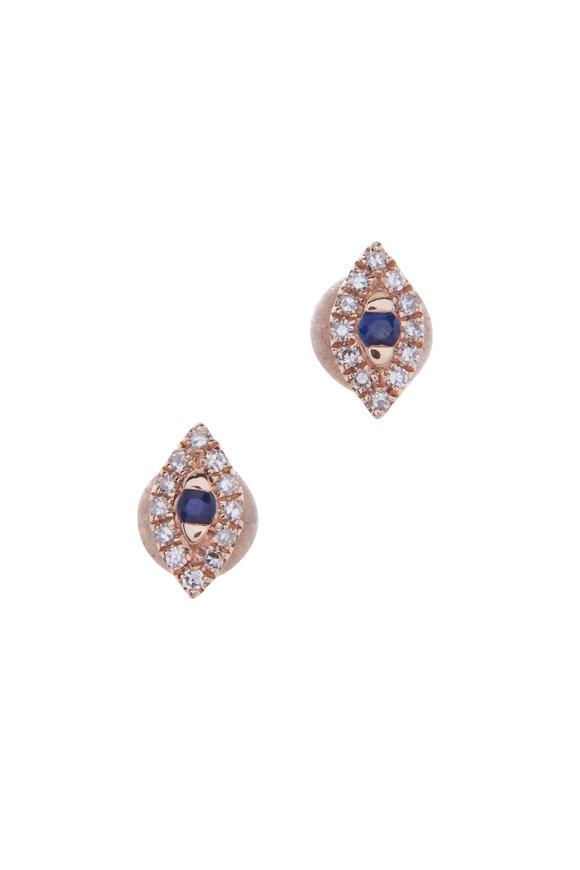 Kai Linz Rose Gold Evil Eye Earrings