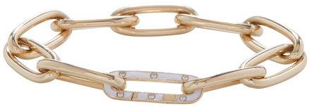 Kai Linz Yellow Gold & Enamel Link Bracelet