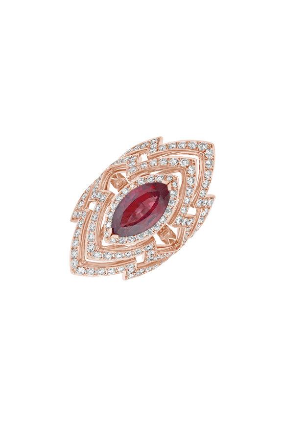 Stephen Webster Rose Gold Diamond Cocktail  Ring