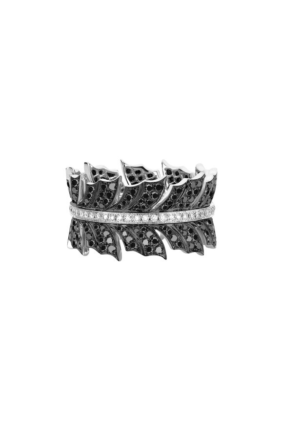 Stephen Webster Blackened White Gold Magnipheasant Band Ring