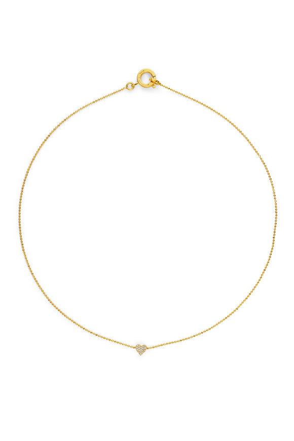 Cadar Yellow Gold Endless Heart Necklace