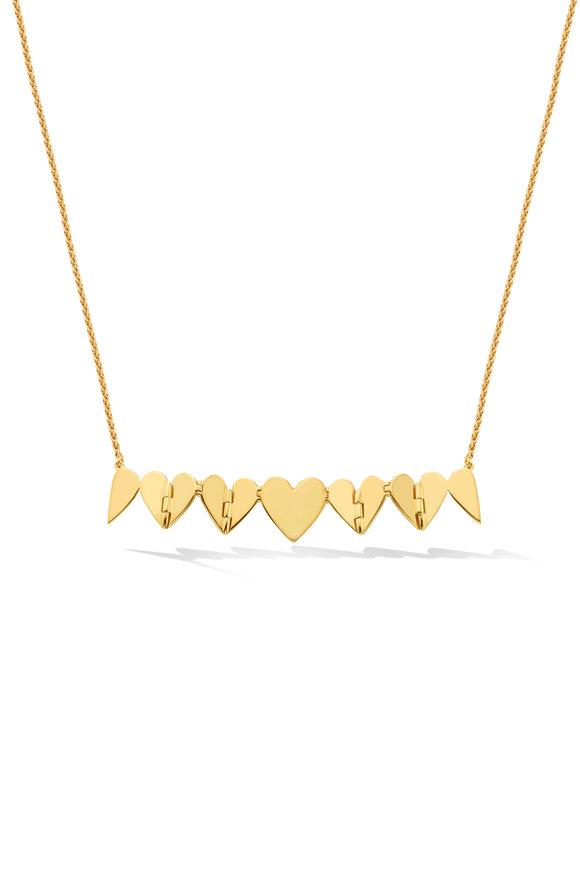 Cadar Yellow Gold Multi Heart Necklace