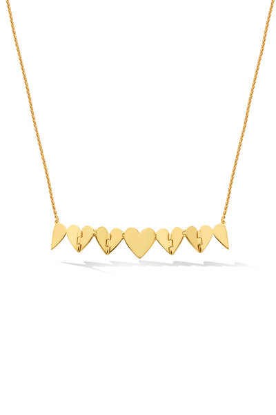 Cadar - Yellow Gold Multi Heart Necklace