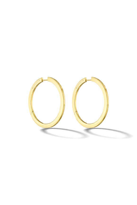 Cadar Yellow Gold Large Hoops