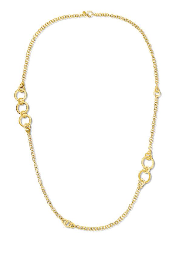 Cadar Yellow Gold White Diamond Solo Necklace