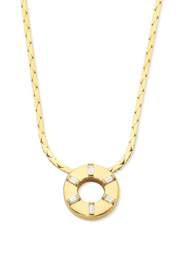 Cadar Yellow Gold Men's Prime Diamond  Pendant Necklace