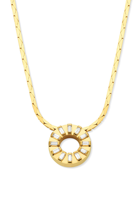 Cadar Yellow Gold Men's Sole Pendant Necklace