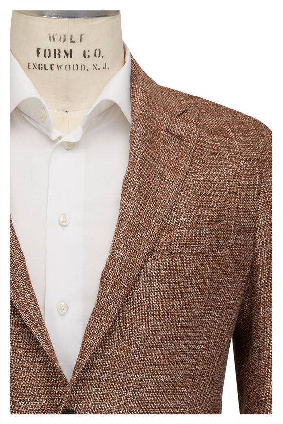 Ermenegildo Zegna Crossover Brown Wool & Silk Sportcoat