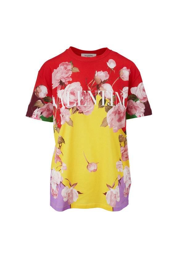 Valentino Multicolor Logo Floral T-Shirt