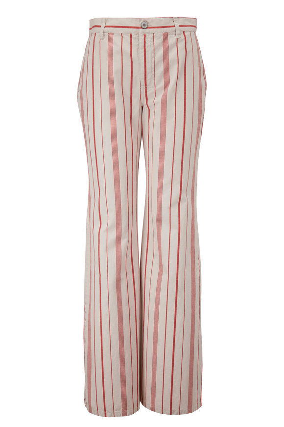 Nili Lotan Hippie Red Stripe Jean