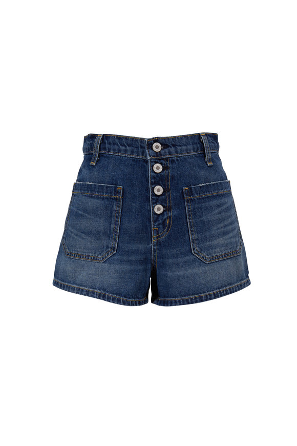 Nili Lotan Mollie Classic Wash Denim Shorts