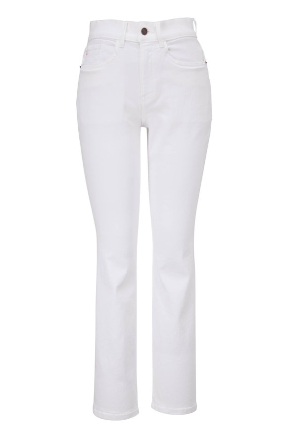 Lafayette 148 New York Reeve Washed Plaster High-Rise Straight Ankle Jean