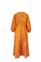 Lafayette 148 New York - Leona Tuscan Orange Three-Quarter Sleeve Dress