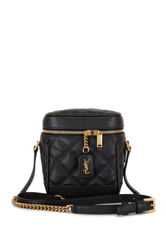 Saint Laurent 80's Vanity Black Leather Crossbody Bag