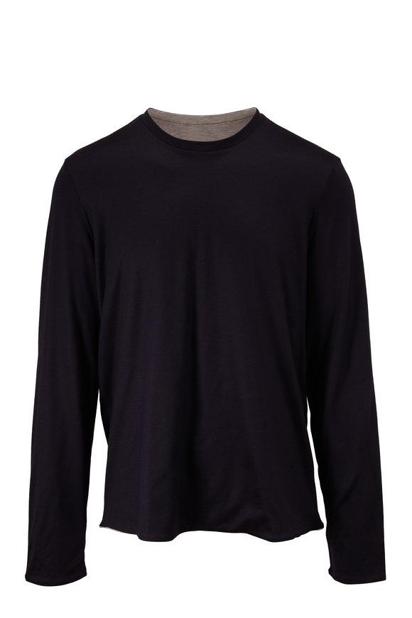 Sease Round Reve Navy Blue Reversible Long Sleeve Shirt