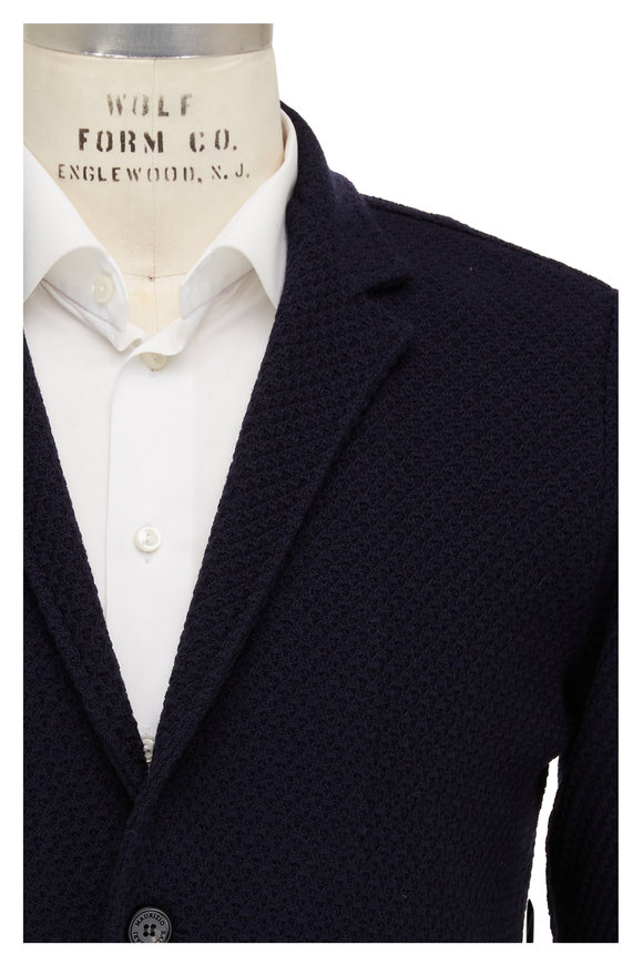 Maurizio Baldassari Brenta Navy Knit Jacket