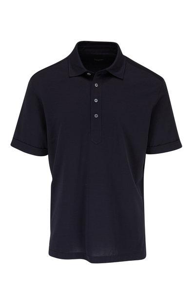 Ermenegildo Zegna - Navy Short Sleeve Polo