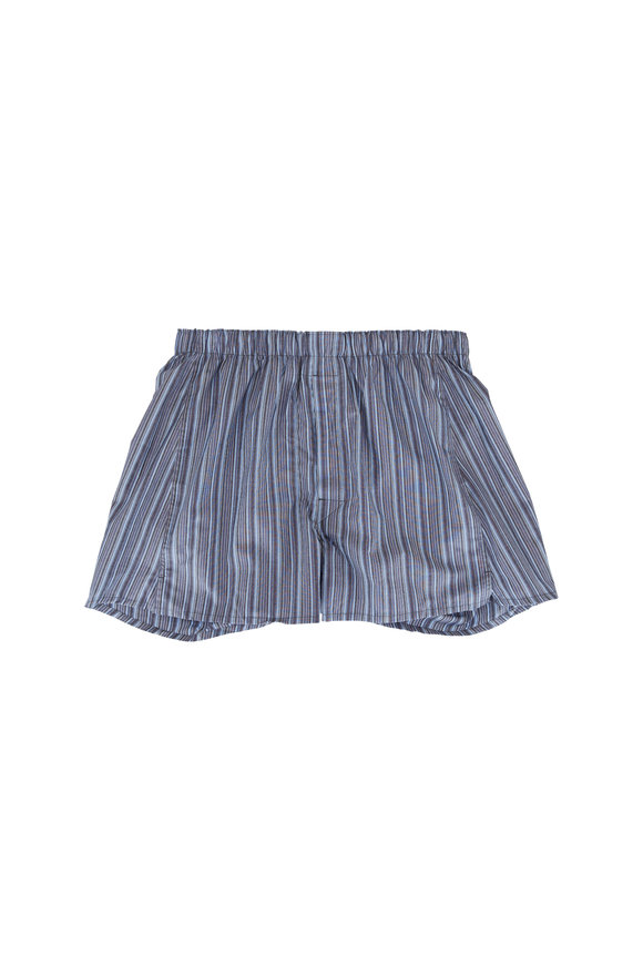 Majestic Blue Stripe Boxer Shorts