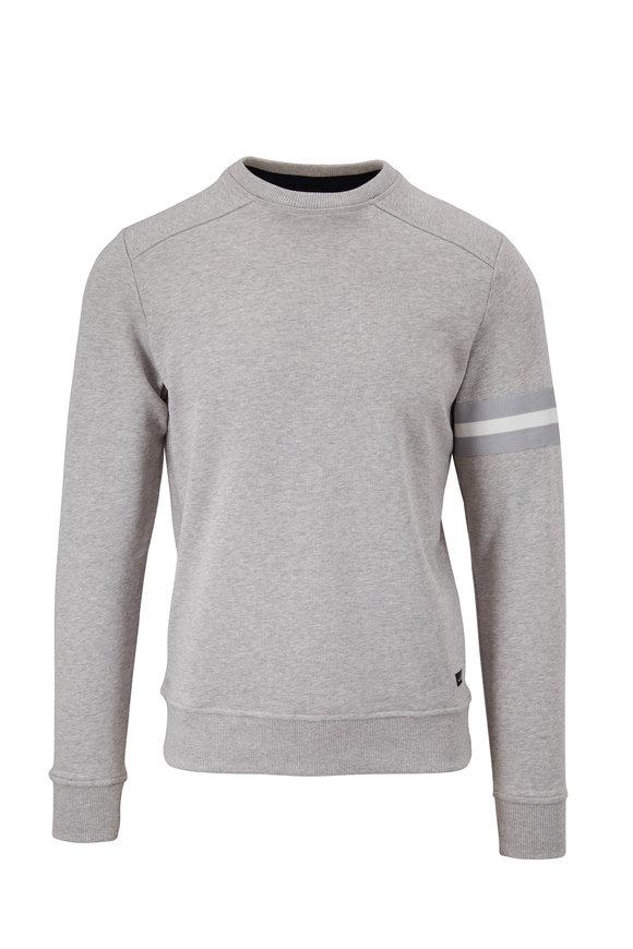 WAHTS Moore Light Gray Melange Banded Sweatshirt