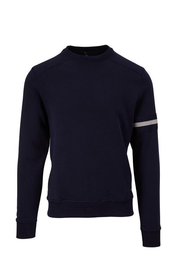 WAHTS Moore Navy Blue Cuffed Sweatshirt