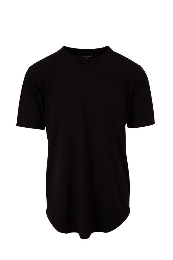 Good Life Scallop Black Supima T-Shirt