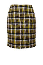 Akris Punto - Black & Yellow Check Tweed Mini Skirt
