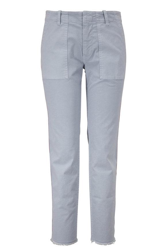 Nili Lotan Jenna Steel Blue Mid-Rise Crop Pant