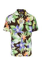 Ralph Lauren - Brown Multi Floral Print Polo