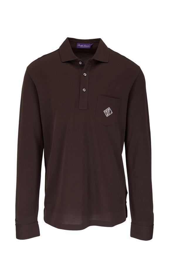 Ralph Lauren Dark Brown Long Sleeve Polo