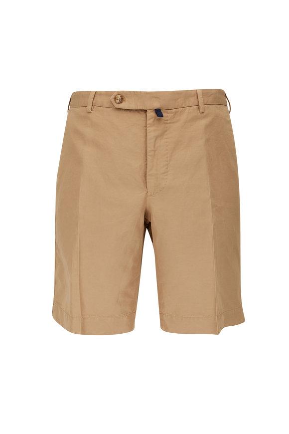 Incotex Tan Chinolino Regular Fit Shorts