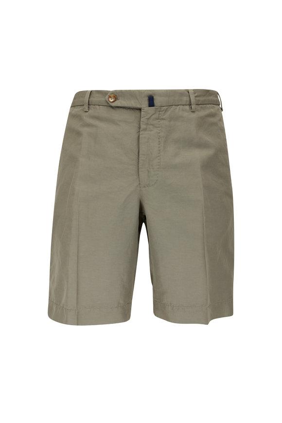 Incotex Olive Chinolino Regular Fit Shorts