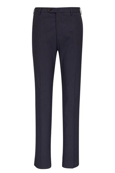 PT Torino - Navy Cotton Crepe Pant