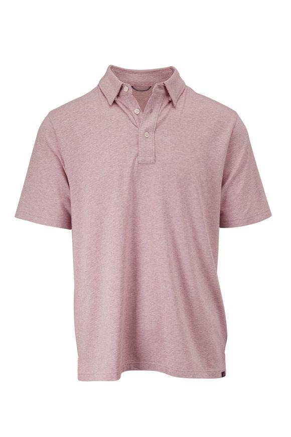 Faherty Brand Movement Lavender Short Sleeve Polo