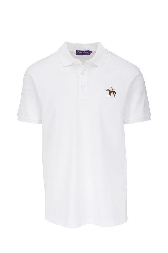 Ralph Lauren White Short Sleeve Polo