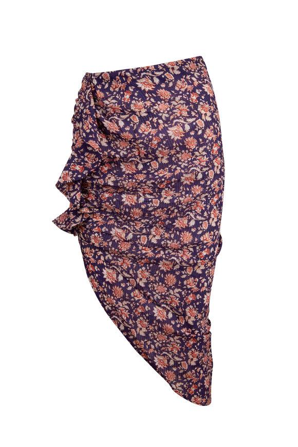 Veronica Beard Hazel Purple Cover-Up Skirt