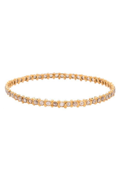 Loren Jewels - Gold & Silver Diamond Bangle