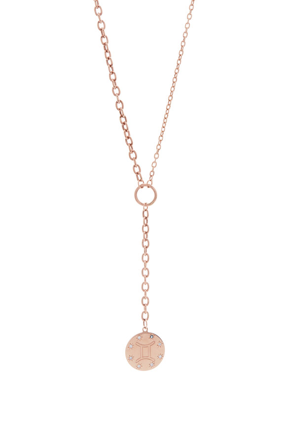 Genevieve Lau Rose Gold Zodiac Charm Necklace